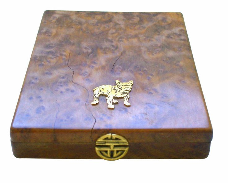 An Art Deco 18k Gold and Burlewood Box, French | From a unique collection of vintage boxes and cases at http://www.1stdibs.com/jewelry/objets-dart-vertu/boxes-cases/
