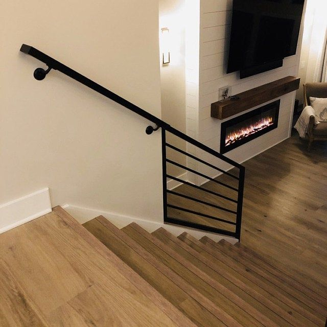 Modern 2x2 Custom Wrought Iron Hand Rail Ada Compliant Return End Wall Mount Handrail Stair Step Railing Made To Order Made In The Usa In 2020 Wall Mounted Handrail Modern Minimalist Handrail