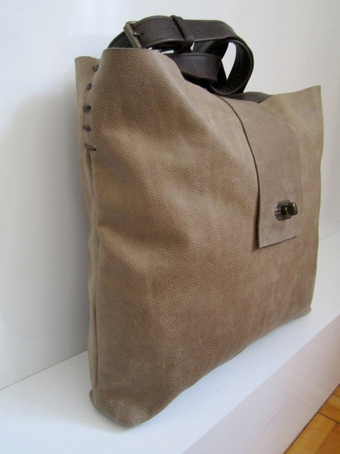 Genuine leather bag  hand made with love and care by hulahup, $75.00