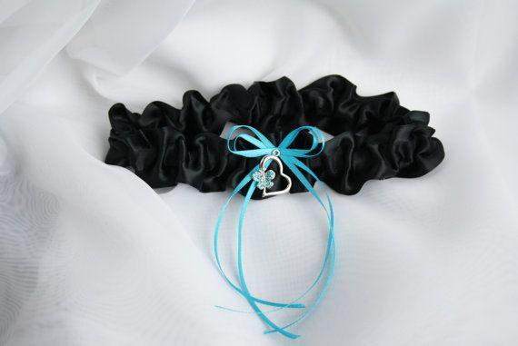 Jarretière couleur noire