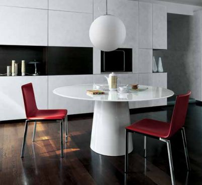 """The base is available in various finishes,  to allow the possibility of playing with colour contrasts and coordinations. The round top is also available with """"lazy susan"""" turning dish.  #design #homedecor"""