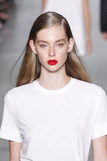 #Lipstick #trend Spring Summer 2016 RED dkny