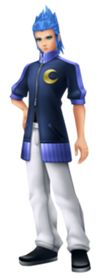 Saïx is Rank VII within Organization XIII, as well as the second-in-command, and the secondary antagonist in both Kingdom Hearts II and  Kingdom Hearts 358/2 Days. He derives power from the Moon while wielding a claymore. He commands the Berserker Nobodies. He is the Nobody of Isa.