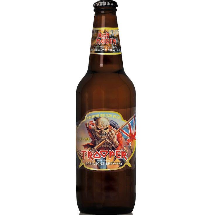"""""""A cerveja artesanal Trooper é uma cerveja roqueira até a alma. desenvolvida pelo vocalista Bruce Dickinson, da banda britânica Iron Maiden, grande ap"""