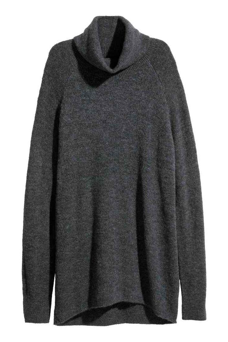 Pulover cu guler rulat - Gri-închis - FEMEI | H&M RO