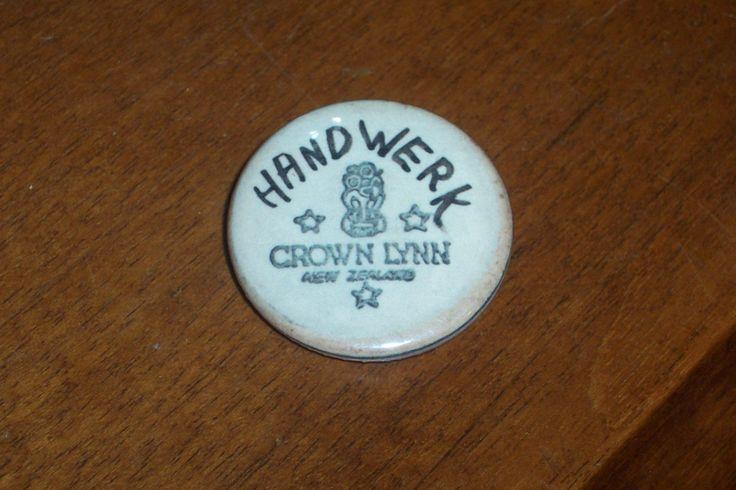 Frank Carpay...Crown Lynn badge.