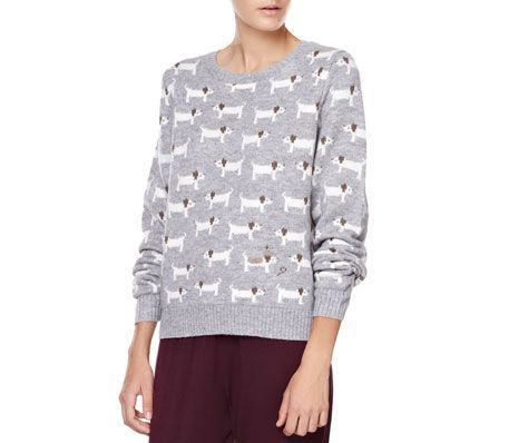 Dog pattern jersey - OYSHO