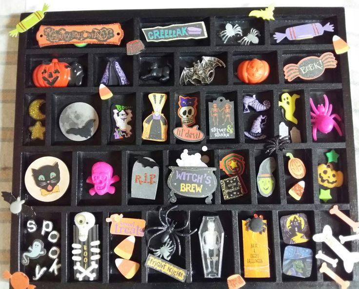 Halloween shadowbox by Vivienne Parfitt