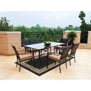 Hometrends Braddock Heights 7 Piece Woven Patio Dining Set, Seats 6. Inexpensive  Patio FurnitureOutdoor ... Part 80