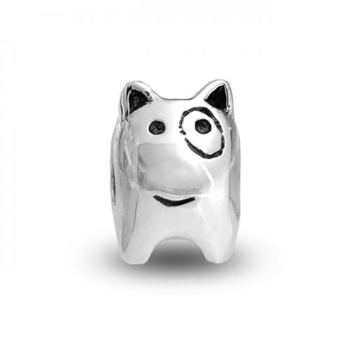 Spot the Dog Silver Animal Bead Compatible with Pandora Bead Bracelet
