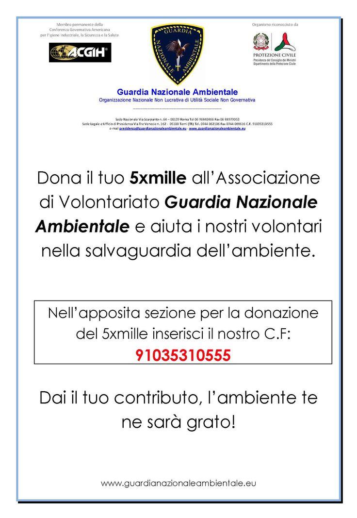 #guardianazionaleambientale #5xmille #volontariato