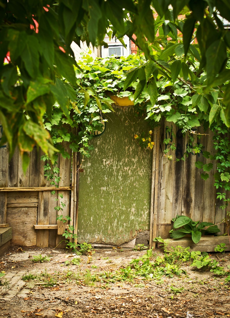 Another Kensington image. A mysterious green door to...
