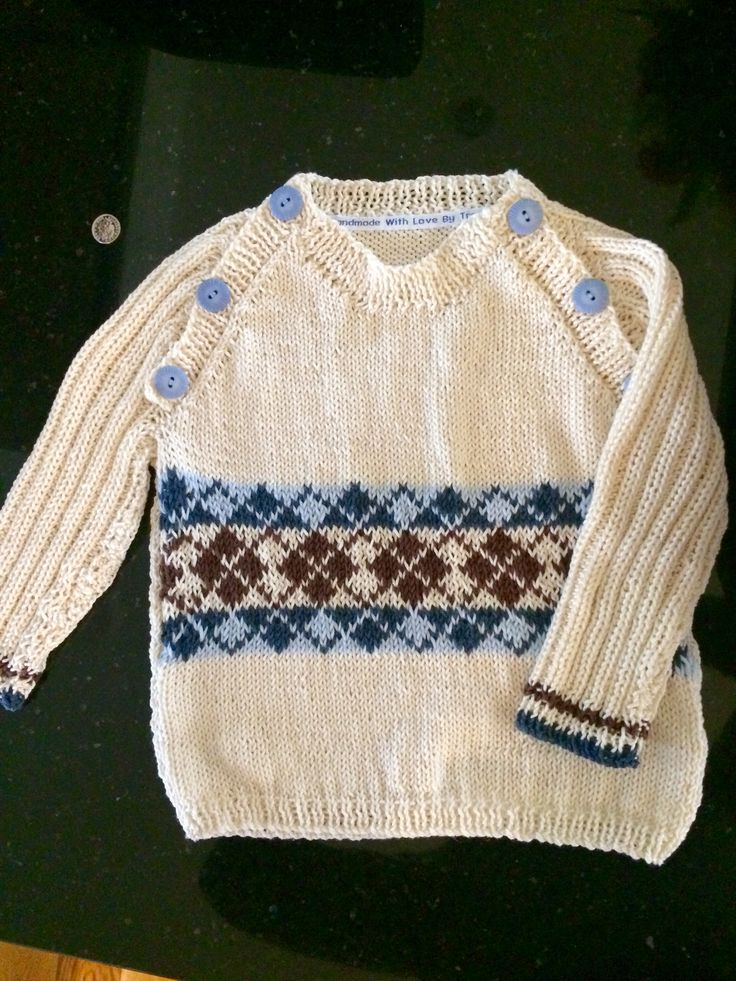 Boys fair isle jumper - free pattern downloaded from loveknitting.com