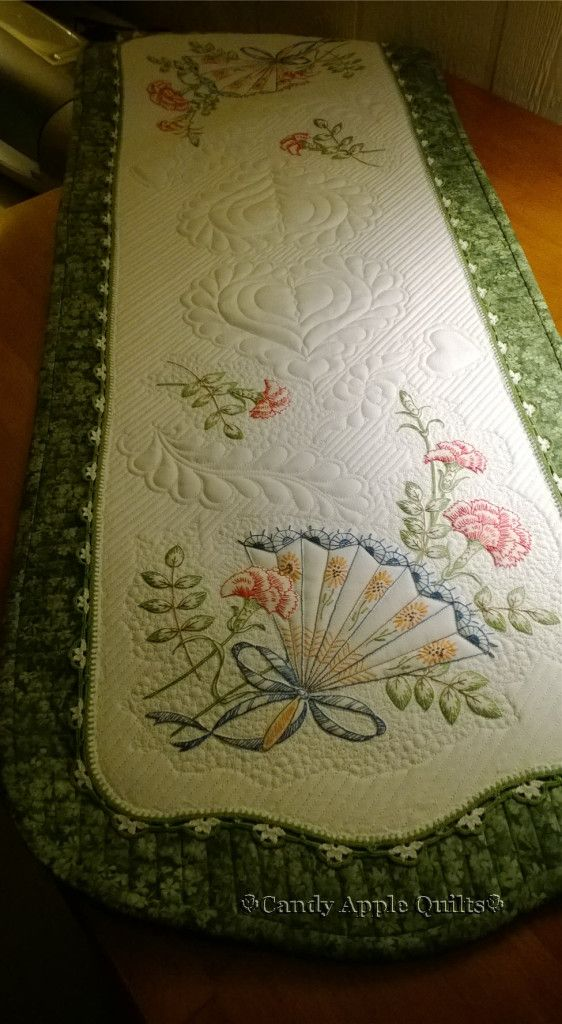 Combining Quilting Embroidery — Candy Apple Quilts
