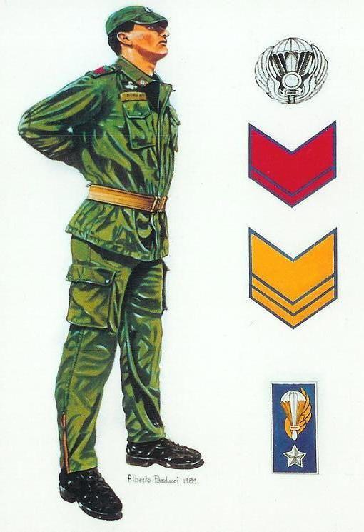 Esercito Italiano - Paracadutista della Brigata Folgore, 1989