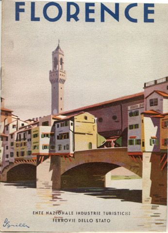 Vintage Travel Poster - Florence - Italy - by R.S. S'grilli - 1933.
