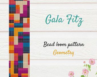 Geometric beaded loom bracelet pattern