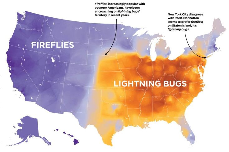 Say these nine words, and we'll tell you where you grew up. (In the USA.) I love this kind of linguistic map.