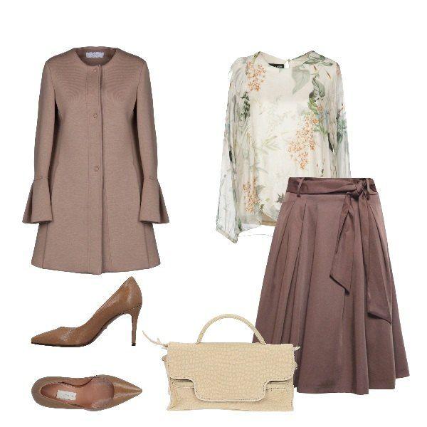new styles dd132 1d65a Un outfit che richiama lo stile retrò, composto da blusa ...