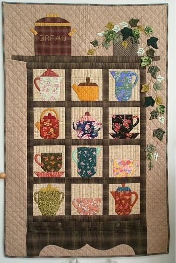 1000 images about quilts tea cups and other kitchen for Kitchen quilting ideas