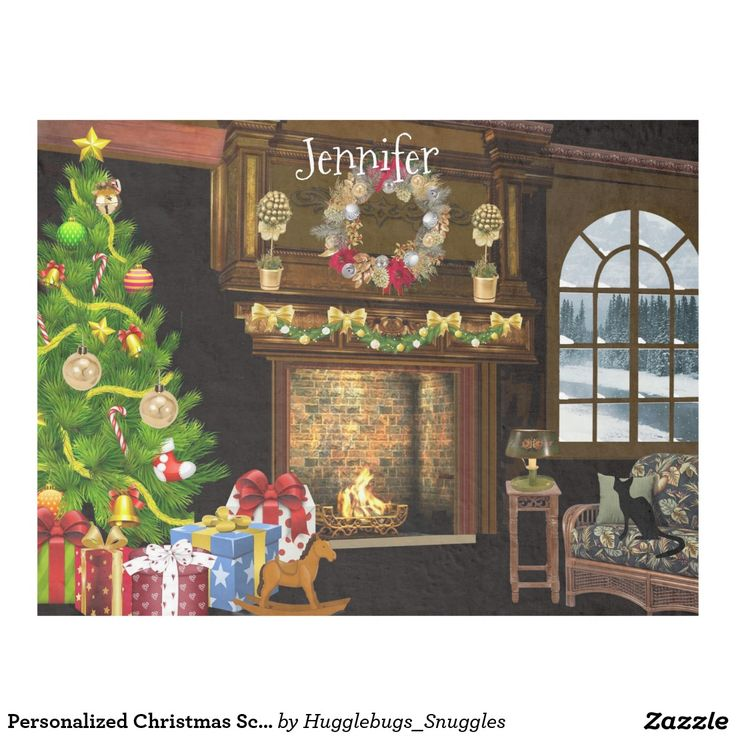 Personalized Christmas Scene