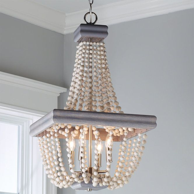 Stone Harbor Beaded Basket Chandelier Rustic Chandelier Beaded