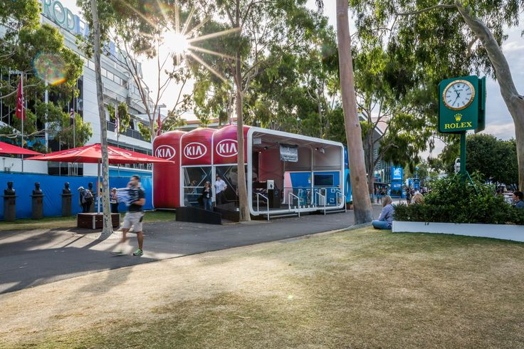 A 10m x 7.5m AirClad Xpo system at the Australian Open in Melbourne
