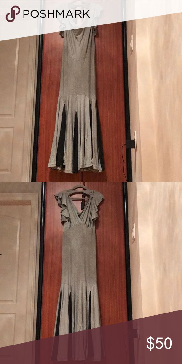 Dress White , with stripes, long dress Dresses