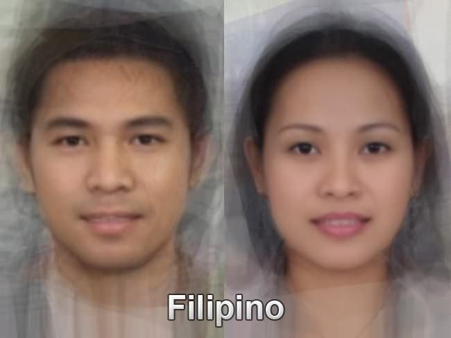 The typical Filipino face from thousands and thousands of images of everyday people compiled together into one composite portrait. To see more, go here. http://www.mediadump.com/hosted-id167-average-faces-from-around-the-world.html