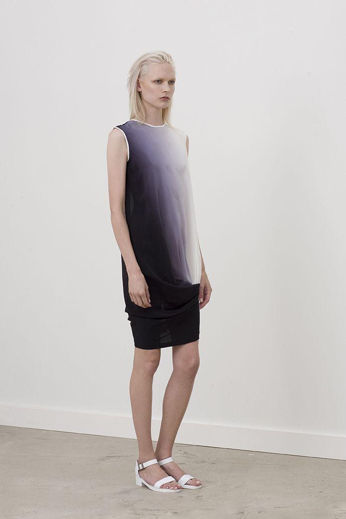 Loftus low back dress with front drape