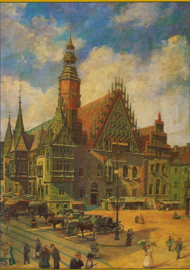 Das Rathaus in Breslau um 1890 Gemälde von Grethe Waldau
