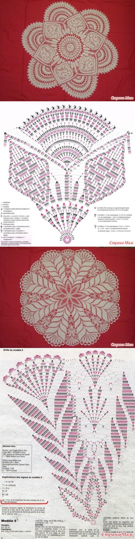 14 best Manteles crochet images on Pinterest | Crochet doilies ...