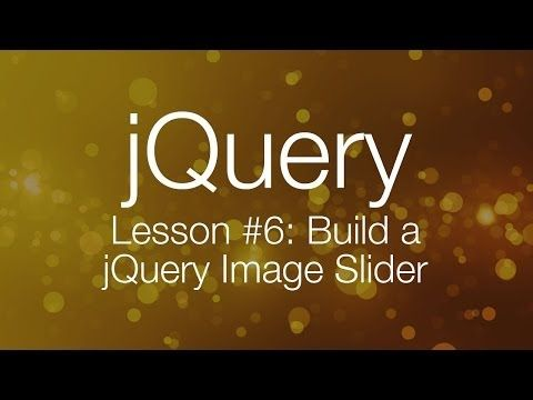 jquery tutorial 6 building a jquery image slider youtube