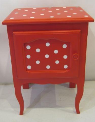 little Breton style bedside drawer with dots / nachtkastje voor de kinderkamer #kinderbureau #kindermeubelen #kinderkamers