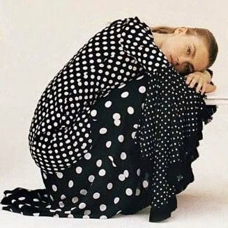 Current existential crisis : is there such a thing as too many polka dots? ••••••••••••••••••••••••••••••••••••••••• Our #polkadot #patchwork #dress in @marieclairefr « Special Mode » styled by @annaquerouilstylist  #andrewgn#fw17#editorial #trendalert#ma