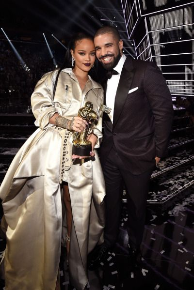 Rihanna and Drake on stage at the 2016 Video Music Awards at Madison Square Garden in NYC