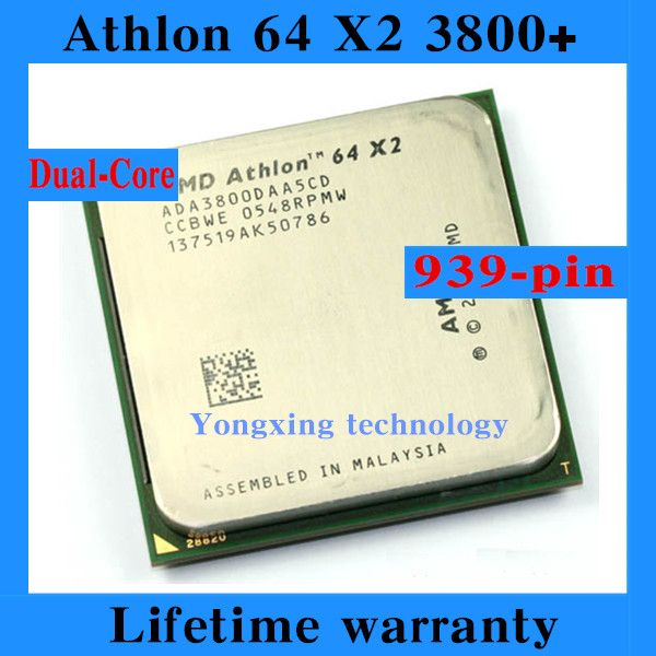 For Athlon 64 X2 3800+ 2.0GHz 1M Dual Core desktop processors PC CPU Socket 939 pin