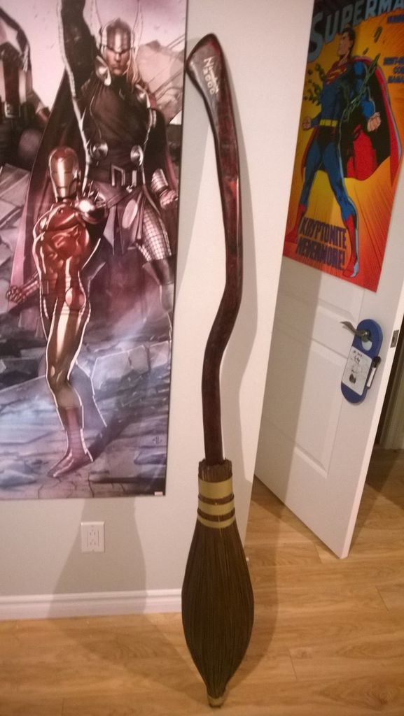 I don't think I've ever wanted a broom so much in my life....