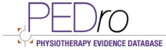 PEDro: Base de datos gratuita de ensayos clínicos, revisiones sistemáticas y guías de práctica clínica de Fisioterapia Basada en la Evidencia. Accesible en http://www.pedro.org.au/spanish/