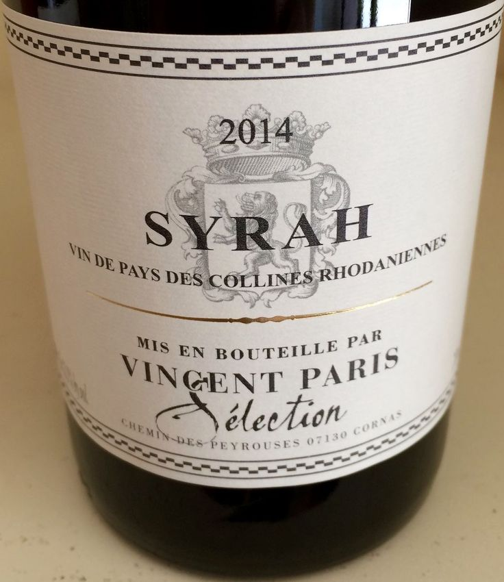 Syrah from Vincent Paris