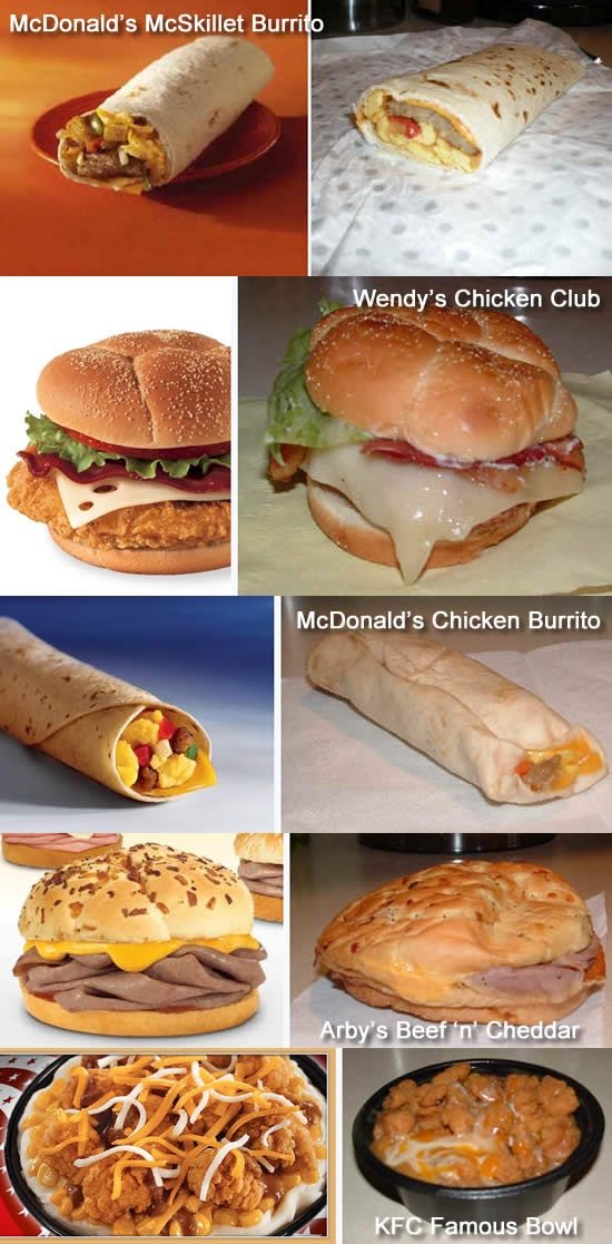 Disgusting Fast Food Items