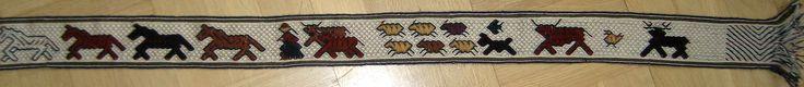 Tablet weaving. Original pattern by Louise Ström