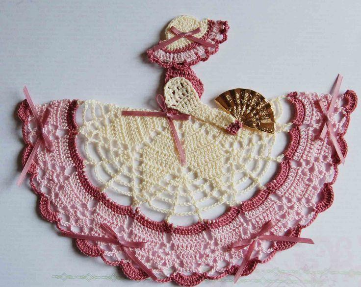 Victorian Theme Crinoline Lady Hand Crochet Doily by designedbyl www.etsy.com