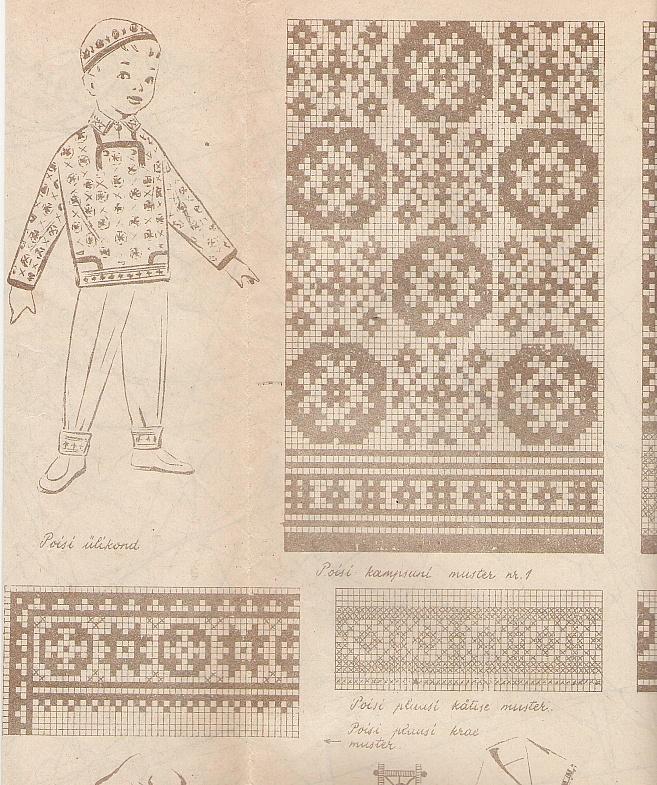 Estonian knitting design