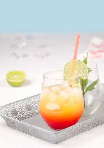Cocktail à la mangue épicée et au citron vert sans alcool