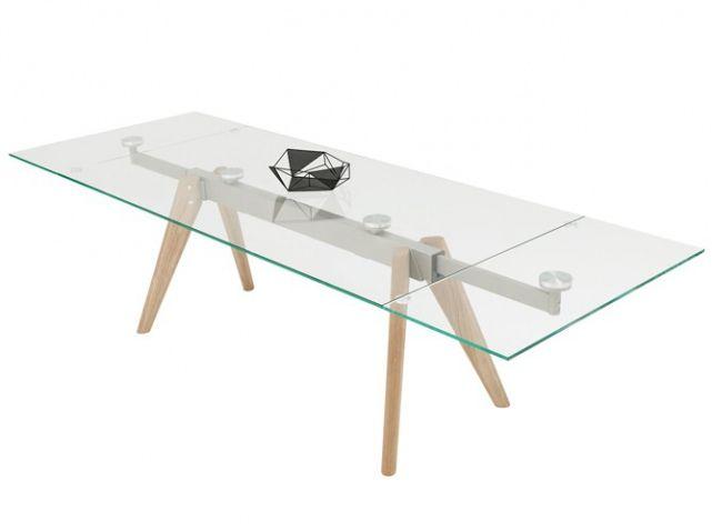 Table verre rallonge boconcept