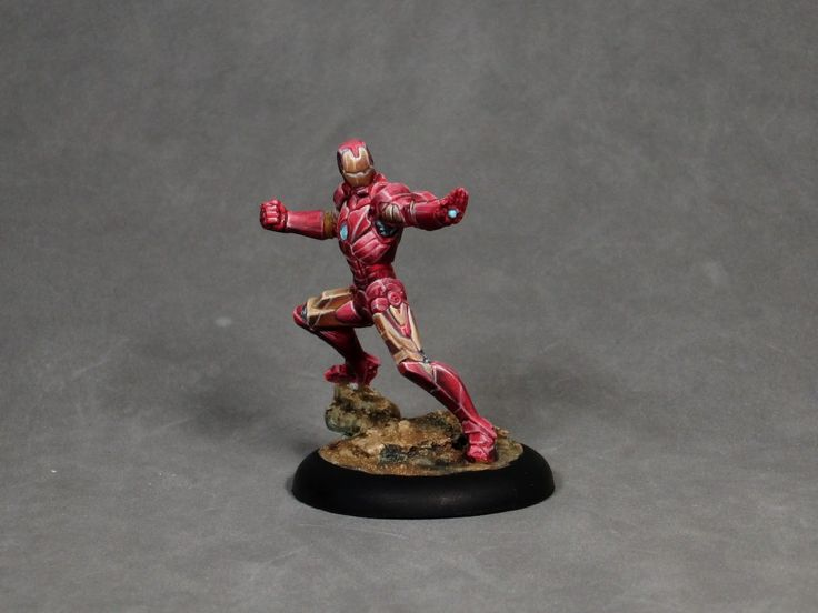 Painting tutorial for Iron Man and non metallic metal nmm