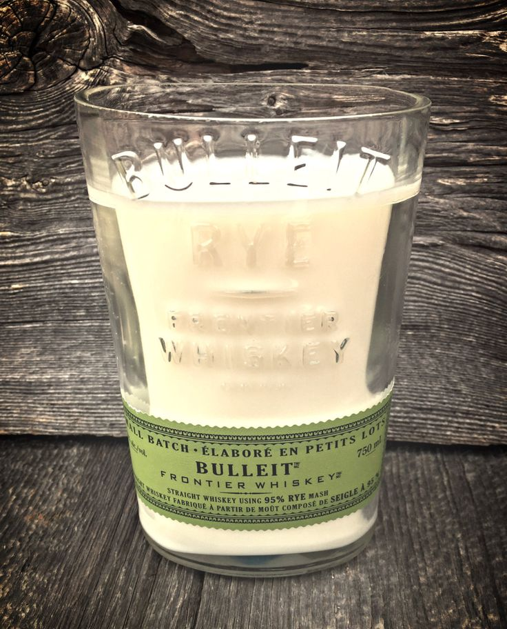 Hand Poured Soy Wax Candle - In a Bulleit Bottle by AdamsBottleShop on Etsy