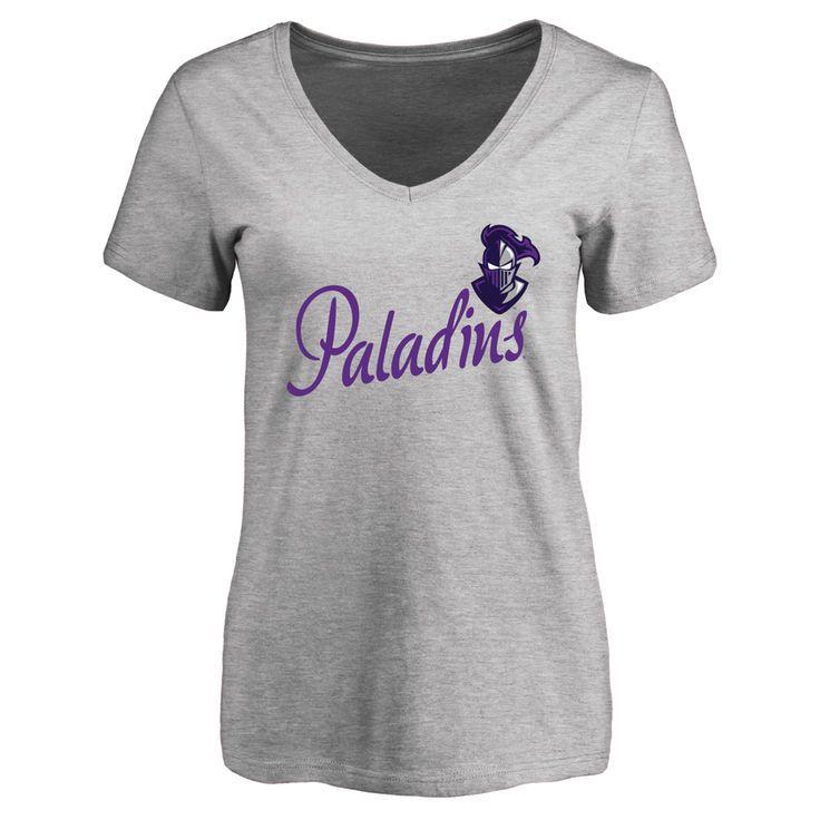 Furman Paladins Women's Dora Slim Fit T-Shirt - Ash - $21.99