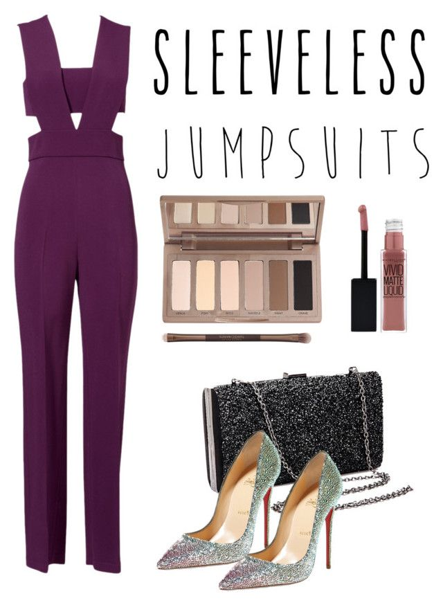 Sleeveless Jumpsuit by esther-chiu-1 on Polyvore featuring polyvore, fashion, style, Cushnie Et Ochs, Christian Louboutin, Urban Decay, Maybelline, clothing and sleevelessjumpsuits